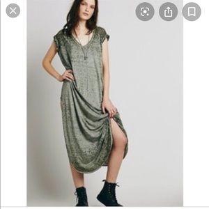 Free People Keep Me Maxi T Shirt Dress